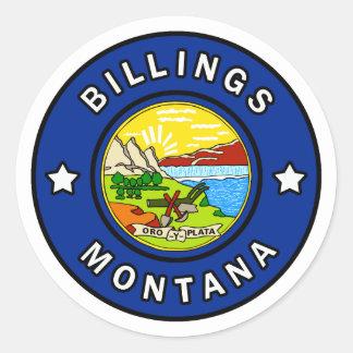 Pegatina Redonda Facturaciones Montana