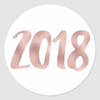 Pegatina Redonda Falsos pegatinas del efecto metalizado 2018 del