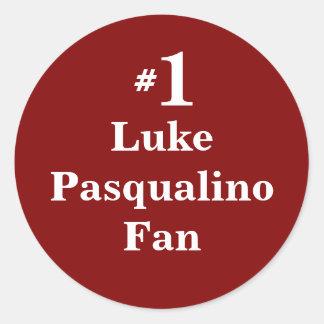 Pegatina Redonda Fan de Lucas Pasqualino del número 1