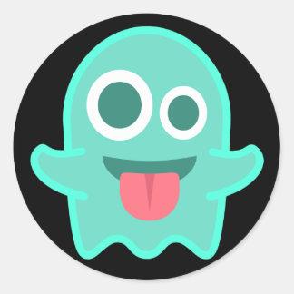 Pegatina Redonda Fantasma divertido Emoji