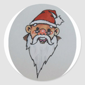 Pegatina Redonda Felices Navidad