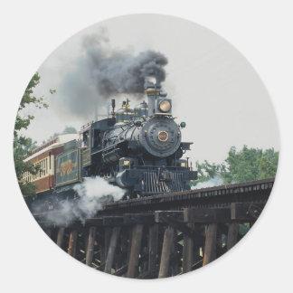 Pegatina Redonda Ferrocarril del Tarantula, Fort Worth, Tejas, los