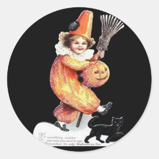 Pegatina Redonda Fiesta del traje el chispear de Halloween del