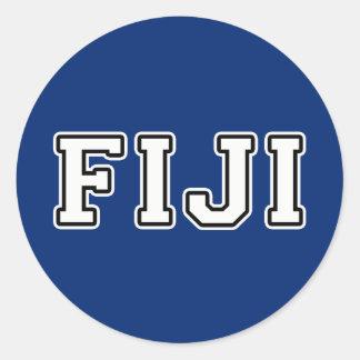 Pegatina Redonda Fiji