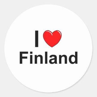 Pegatina Redonda Finlandia