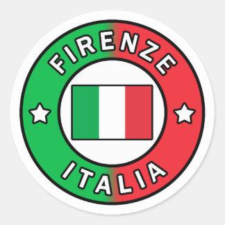 Pegatina Redonda Firenze Italia