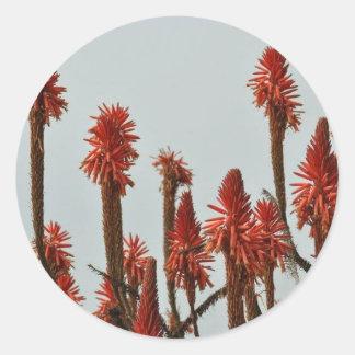 Pegatina Redonda Flor