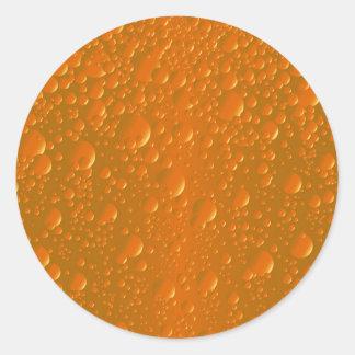 Pegatina Redonda Fondo anaranjado de Bibble de la sombra