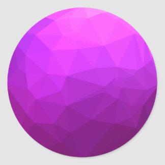 Pegatina Redonda Fondo bajo abstracto púrpura bizantino del
