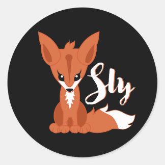 Pegatina Redonda Fox astuto