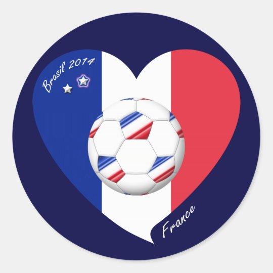 """Pegatina Redonda """"FRANCE"""" Soccer Team. Fútbol de Francia 2014"""