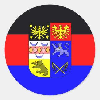 Pegatina Redonda Frisia del este, bandera