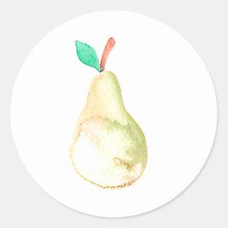 Pegatina Redonda Fruta del inconformista