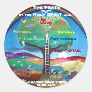 Pegatina Redonda Frutas de los pegatinas del Espíritu Santo