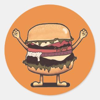 Pegatina Redonda ¡Ganador de la hamburguesa!