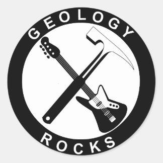Pegatina Redonda Geology Rocks Adhesive