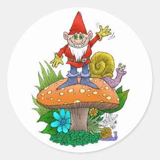 Pegatina Redonda Gnome.jpg que agita