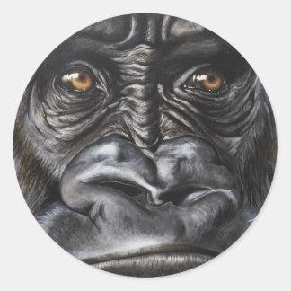 Pegatina Redonda Gorila