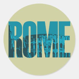 Pegatina Redonda Gráfico de Roma