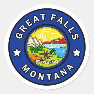 Pegatina Redonda Great Falls Montana