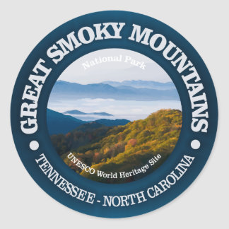 Pegatina Redonda Great Smoky Mountains