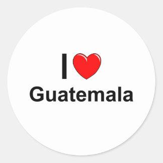 Pegatina Redonda Guatemala