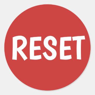 Pegatina Redonda Haga su propio botón de reinicio