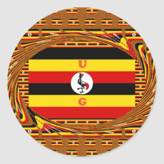Pegatina Redonda Hakuna asombroso hermoso Matata Uganda precioso