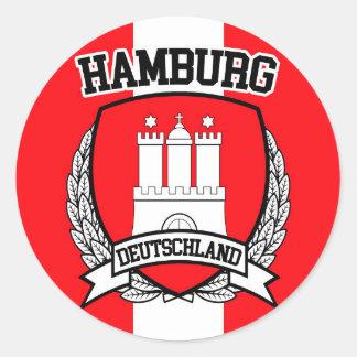 Pegatina Redonda Hamburgo