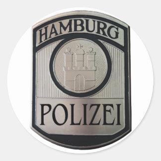 Pegatina Redonda Hamburgo Polizei