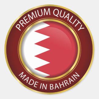Pegatina Redonda Hecho en la bandera de Bahrein, el bahreiní