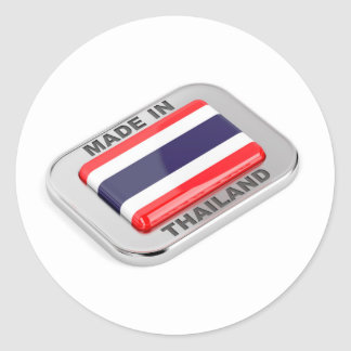 Pegatina Redonda Hecho en Tailandia