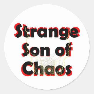 Pegatina Redonda Hijo extraño del caos