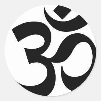 Pegatina Redonda hindu3