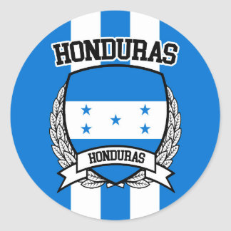 Pegatina Redonda Honduras