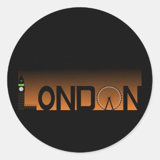 Pegatina Redonda Horizonte de Londres