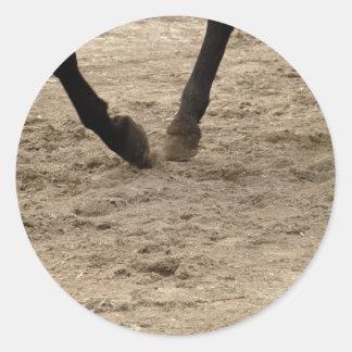 Pegatina Redonda Horse hooves