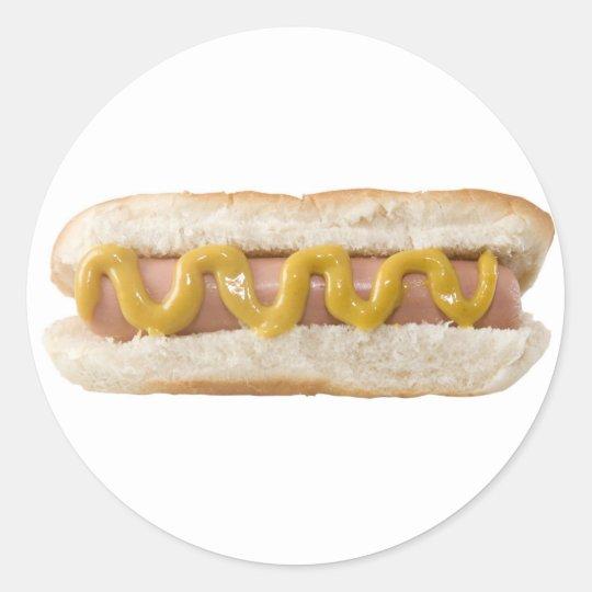Pegatina Redonda hot dog