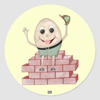Pegatina Redonda Humpty Dumpty