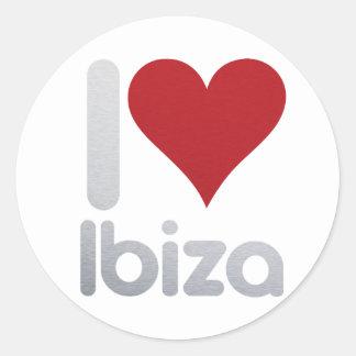 PEGATINA REDONDA I LOVE IBIZA