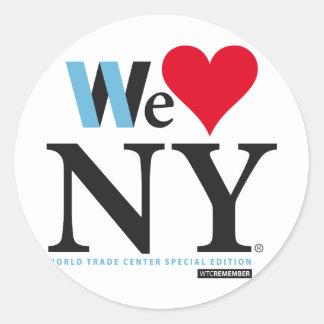 PEGATINA REDONDA I LOVE NY, WE LOVE NY, DO YOU?