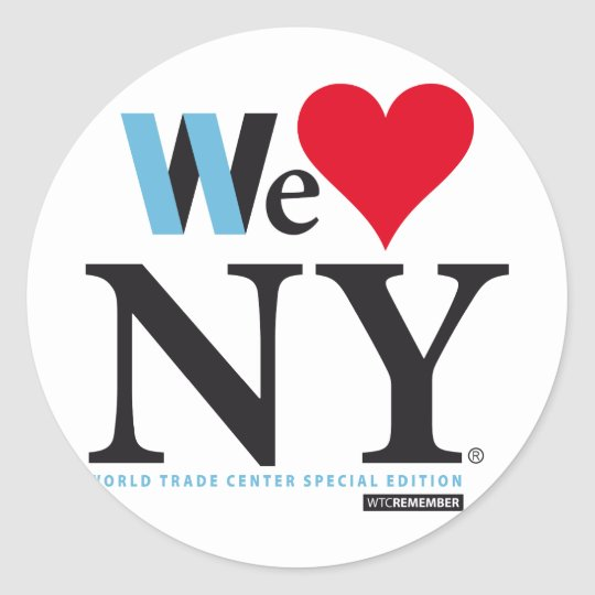 PEGATINA REDONDA I LOVE NY, WE LOVE NY, DO YOU?