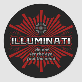Pegatina Redonda Illuminati no deja el ojo engañar la mente