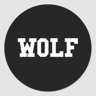 Pegatina Redonda Impresión agradable del lobo