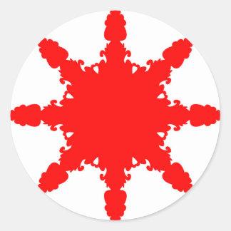 Pegatina Redonda Impresión circular roja