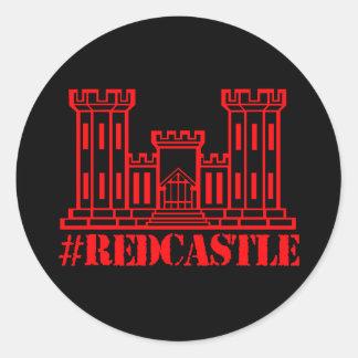 Pegatina Redonda Ingeniero de combate del #Redcastle (castillo