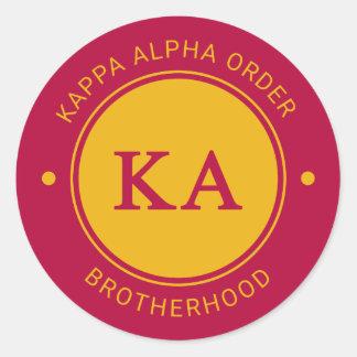 Pegatina Redonda Insignia alfa de la orden el | de Kappa