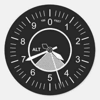 Pegatina Redonda Instrumentos del vuelo