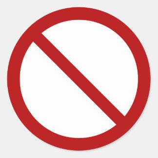 Pegatina Redonda International oficial ninguna ISO 3864-1 del