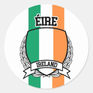 Pegatina Redonda Irlanda